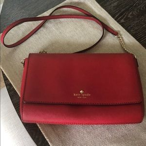 Kate Spade Red Crossbody Bag (mint condition)